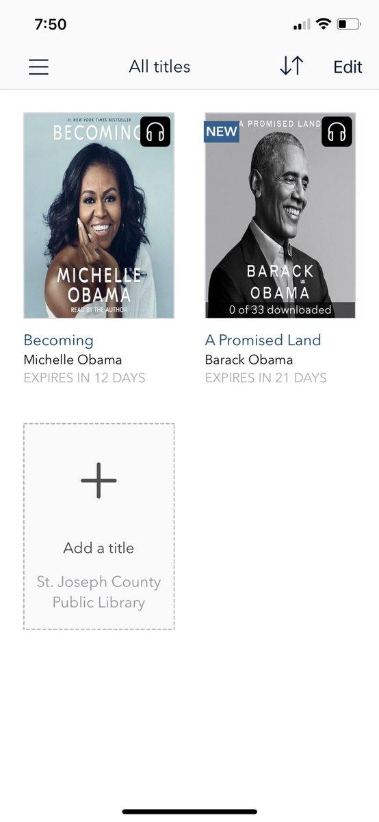 Well isn't that just beautiful?? 📚 @MichelleObama @BarackObama #audiobooks #Iambecoming #APromisedLand