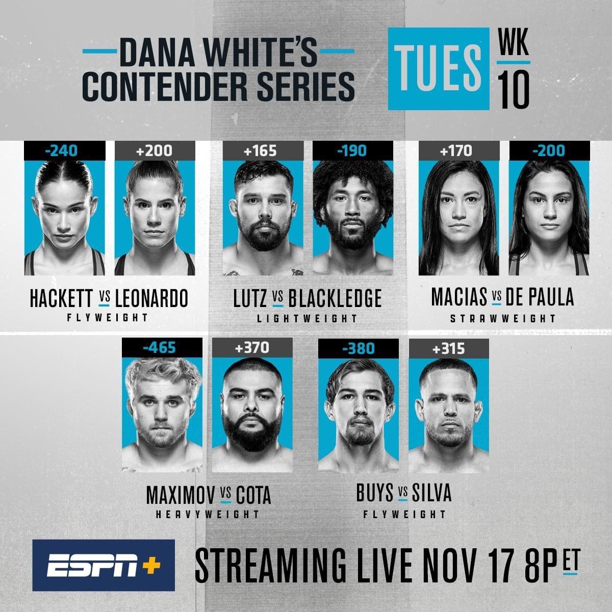 #NowWatching - Dana White's Contender Series 36 #UFC #DanaWhitesContenderSeries36 #DWCS36 #DWCS #UFCLasVegas #ESPNPlus #MMA https://t.co/JbUirU68MN