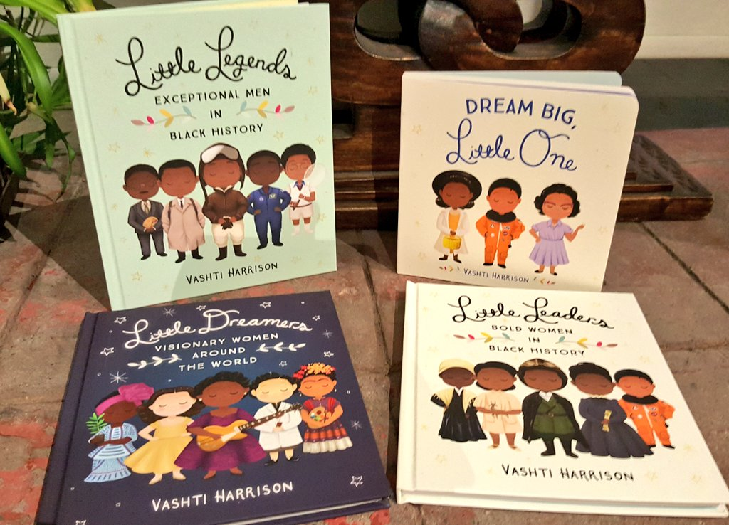 📚☃️This holiday season give children the 🎁 of inspiration to dream. @VashtiHarrison's books teach kids of many leaders & legends - #LangstonHughes, #MaeJemison, #JohnLewis #ThurgoodMarshall - who came before and show it's possible to realize dreams: ✊🏿📚