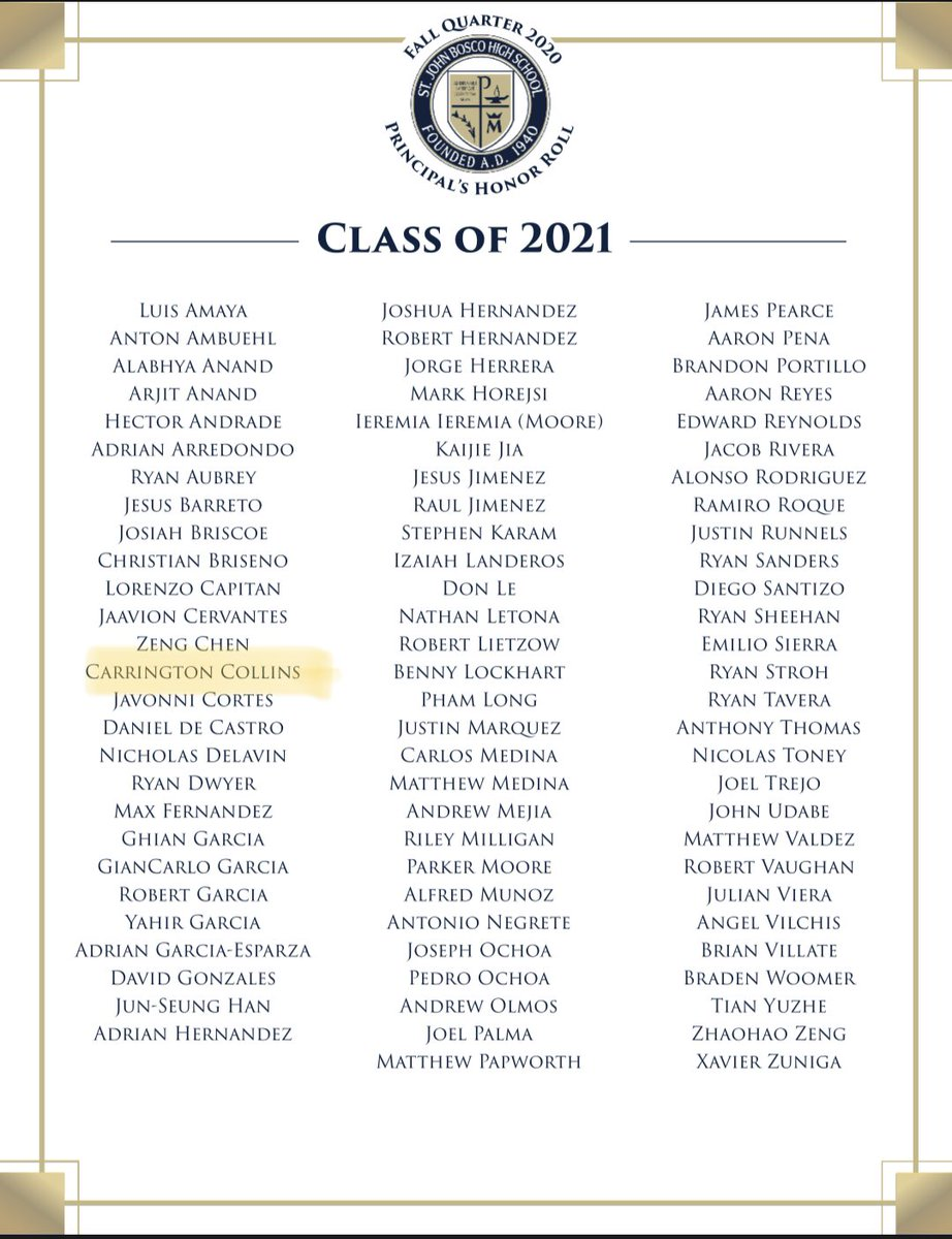 We get it done in the books too!🤣 Honored to be on the Principal's Honor Roll. #DESTINATIONBOSCO