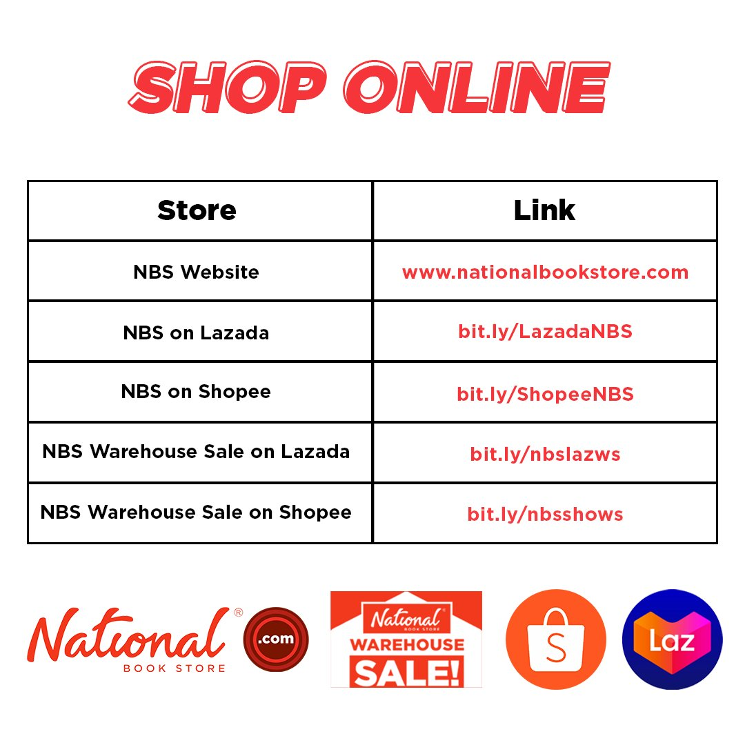 Mas madali nang bumili sa National Book Store! Order books, modular learning and work from home essentials, and more great finds.  Scan the QR Codes or visit the links to get started. #NBSeveryday