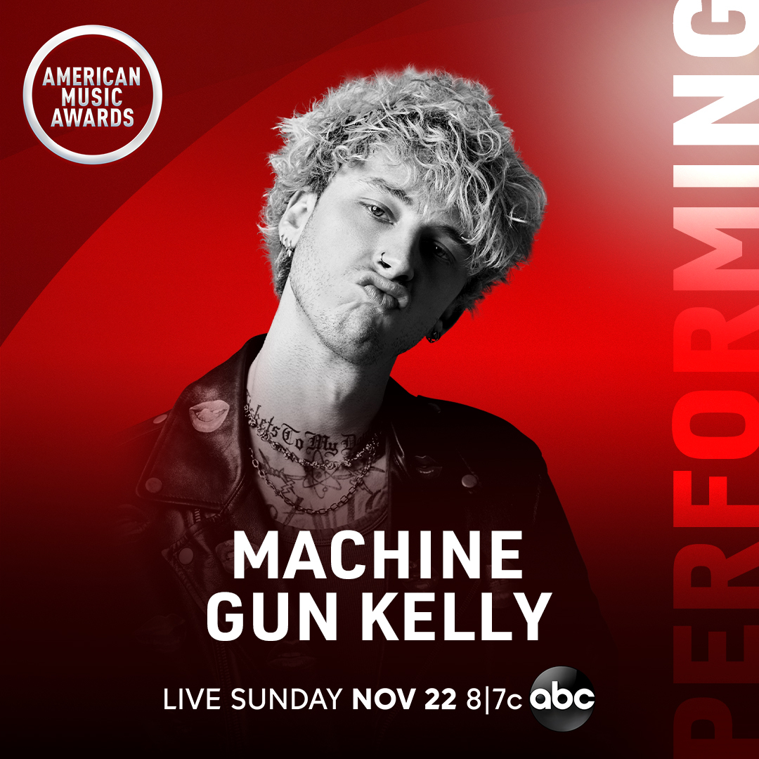 .@machinegunkelly is making his #AMAs debut and performing this Sunday! Get ready to rock out at 8/7c on ABC.
