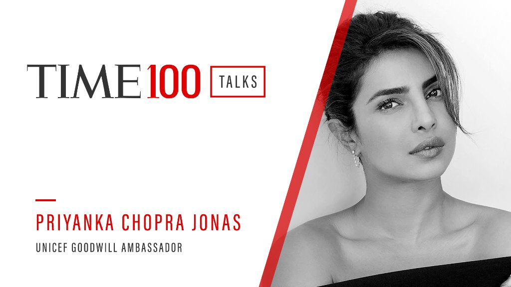Join us this Thursday for a live #TIME100Talks featuring UNICEF Goodwill Ambassador @priyankachopra.  Register now: https://t.co/HD3P6B2538 https://t.co/2VjXEHTHSY