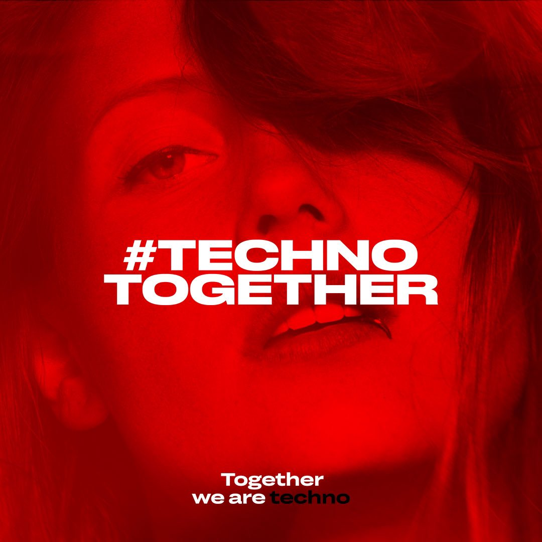 Our techno world is at a standstill, clubs disappear, jobs are lost, no parties until the early hours, but techno is and will always be there. The techno feeling is in you, even now, in a world that's torn apart, together we stand strong. Together we are techno 👊🏼 #TECHNOTOGETHER