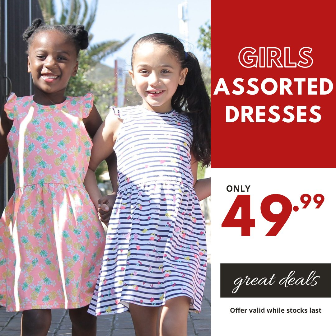 Girls just wanna have fun...in these affordable summer dresses! Assorted Summer Dresses only 49.99 available in selected stores. #choiceclothing #wearchoice #girlsdresses #girls