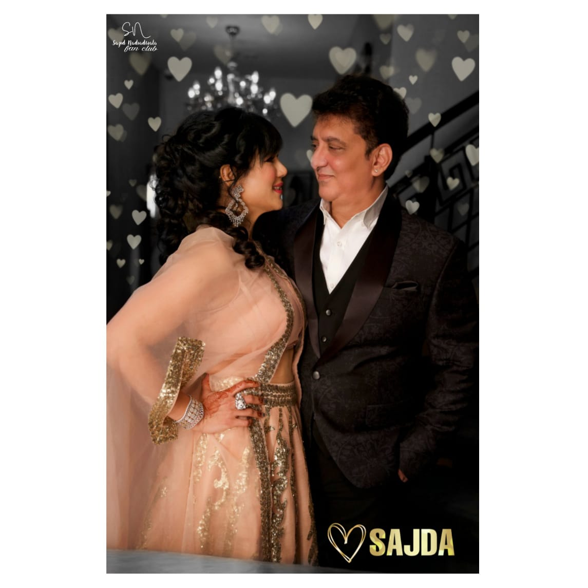 To another year walking life's path hand- in- hand and heart-in-heart❤️❤️❤️ 20 years of #SajDa😍 Happy Anniversary to #SajidNadiadwala sir and @WardaNadiadwala ma'am💕 Lots of love and happiness to you both🥰🥰🥰