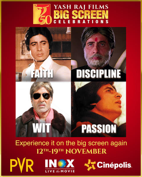 T 3725 - Some of my very special movies & characters are back on the big screen! This Diwali, be safe & enjoy with YRF 50 Big Screen Celebrations -  | #YRF50 | @yrf