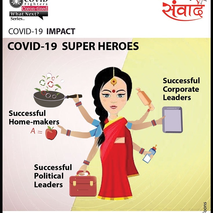 Women have proven their mettle that they are all-time Super Heroes during adverse COVID-19 wave as politician, corporate leaders & homemakers.  Join us:   #covidfighters #healthysamvaad #healhealth #unitetofightcorona #Covid_19