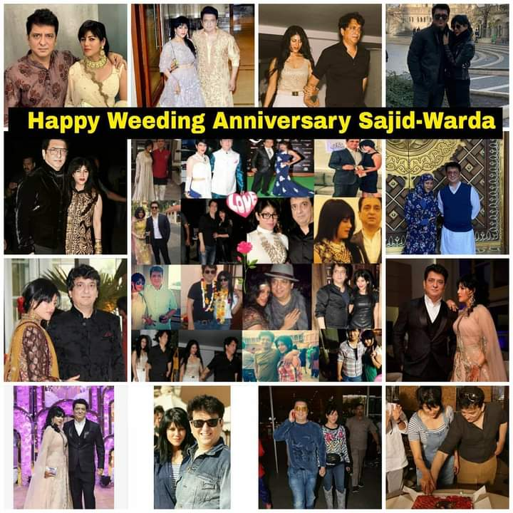 Happy Weeding Anniversary To The Lovely Couples @WardaNadiadwala And #SajidNadiadwala ♥  Lots Of Love And All The Best Wishes Always. One Of Sweetest And Cuttest Couples 👫  #HappyAnniversarySajda ❤😍