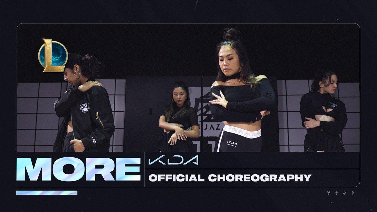 MOVE LIKE K/DA. // Watch the KaiSa-inspired MORE choreo tutorial from the @KINJAZ! youtu.be/xhmt50FfHOo #KDA #ALLOUT #DRUMGODUM