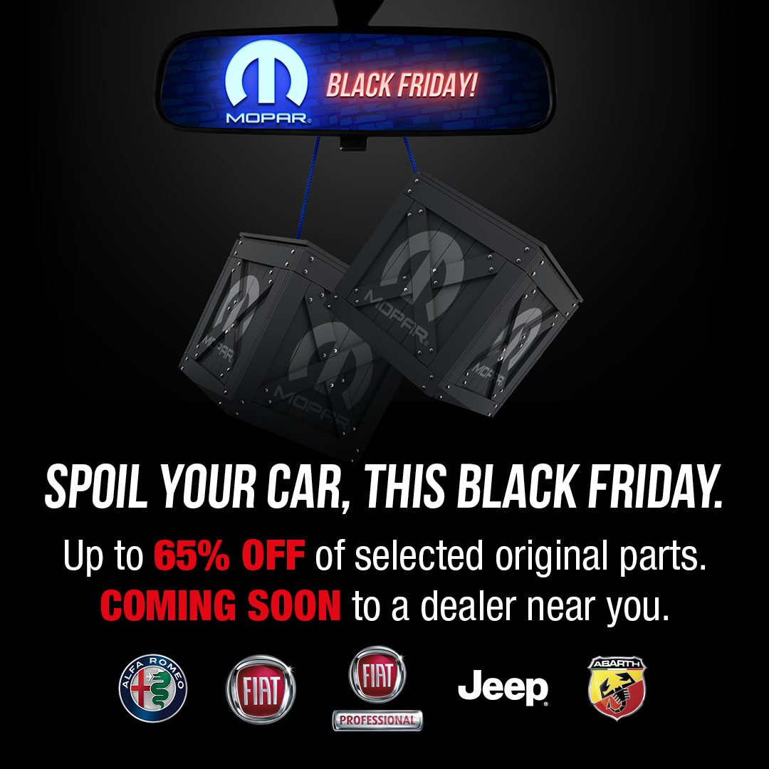 Jeep South Africa On Twitter Mopar Black Friday 23 Nov 15 Dec 2020 Up To 65 Off Selected Original Parts Coming Soon To A Dealer Near You Mopar Https T Co Wc0s0nmcom