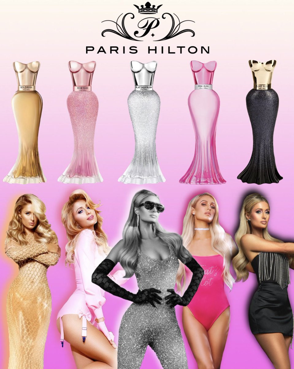 Replying to @ParisHilton Just released my 28th @PHFragrances ! 😍 So proud of my fragrance Empire! 👑 Which is your favorite? 🤔 #PerfumeQueen ✨👸🏼✨