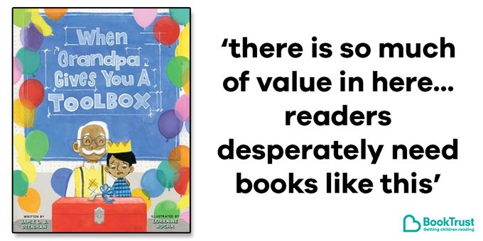The front cover of When Grandpa Gives You a Toolbox and a quote from our review: 'There is so much of value in here... readers desperately need books like this'
