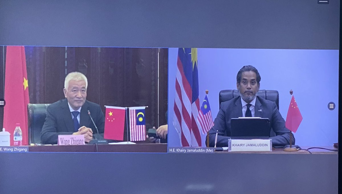 """Khairy Jamaluddin 🇲🇾🌺 on Twitter: """"Formally signed the bilateral  agreement on vaccine development and accessibility with Minister Wang  Zhigang of China which will see Malaysia getting priority access for  COVID-19 vaccines. This"""