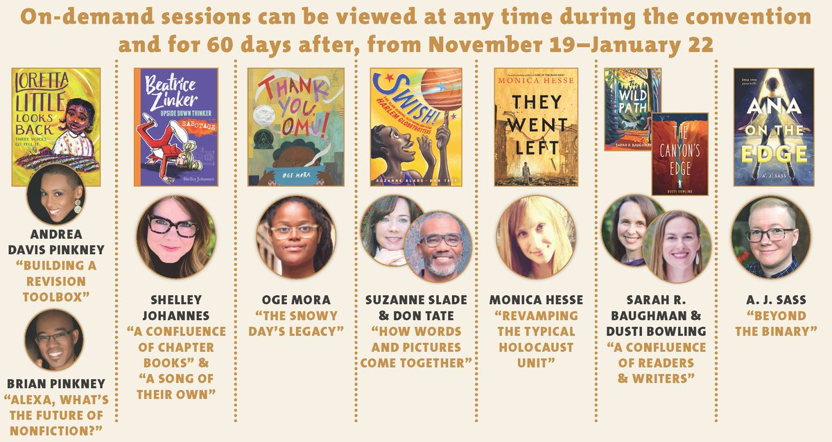 Are you filling out your online planner for #NCTE20? Don't forget to add and watch these on demand sessions! See our full schedule here ▶