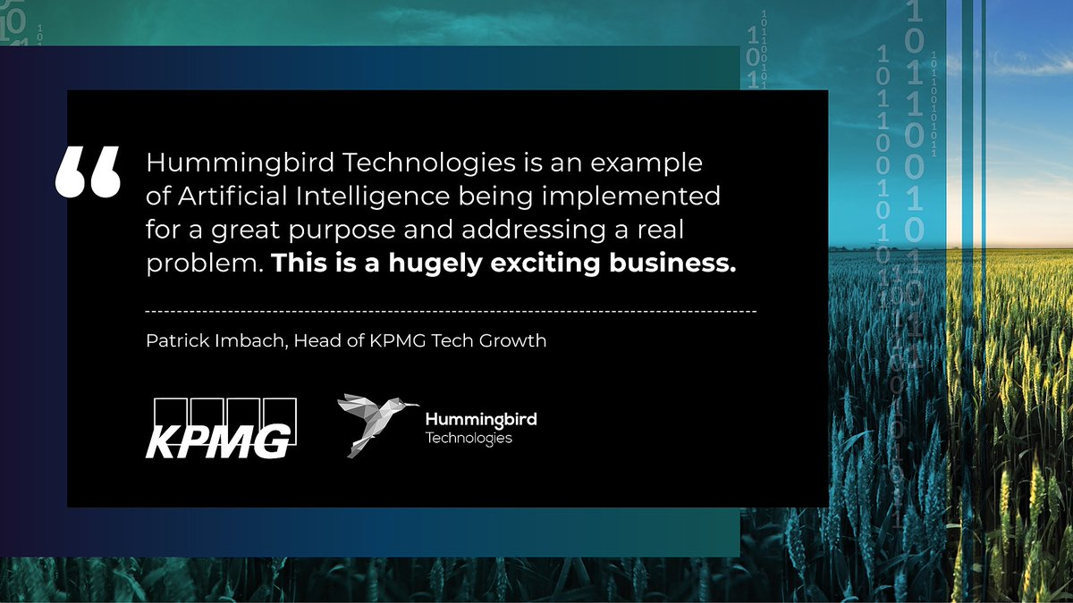 We are really honoured and proud to receive this recognition of our work, from the Head of @KPMGTechGrowth   To learn more about our data analytics, AI and product services, please contact the sales team https://t.co/o78umolKOi  @PatrickImbach @kpmguk #AI #artificialintelligence https://t.co/n8ixNxG5Z8