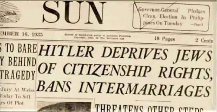 85 years ago, almost to the day.