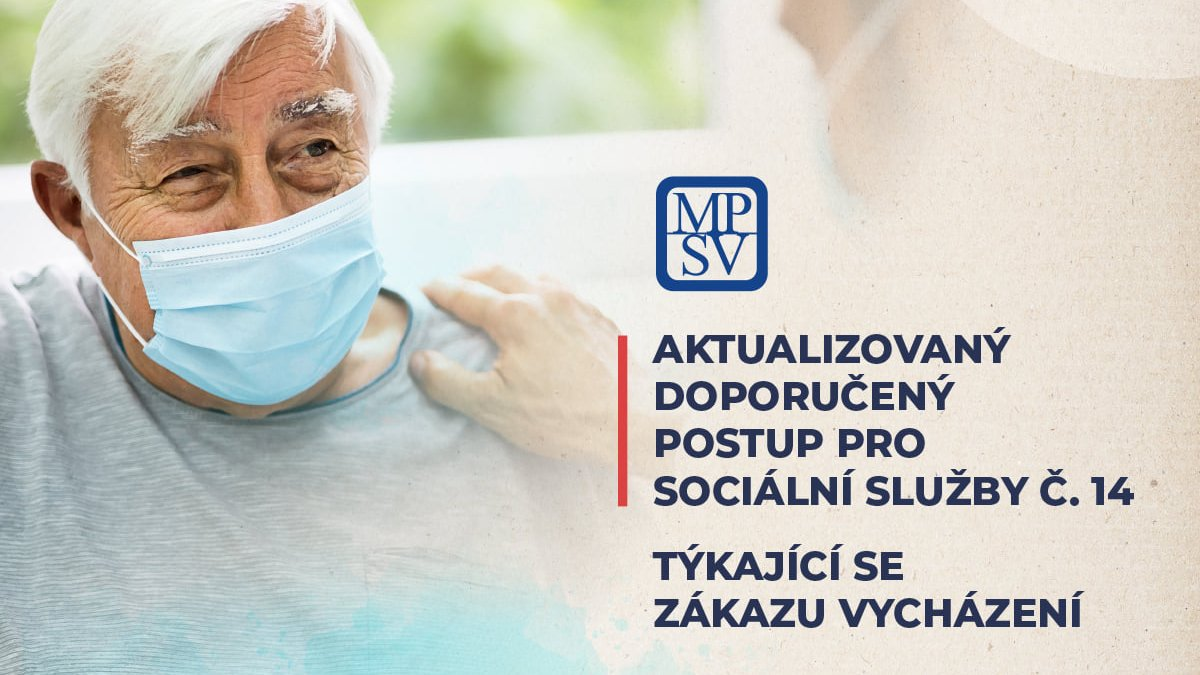 """MPSV dne 16. 11. 2020 aktualizovalo doporučený postup pro sociální služby č. 14. Aktualizace se týká části """"Zákaz vycházení"""".  📍https://t.co/jzu0UcllW6 https://t.co/UNFePucVCH"""