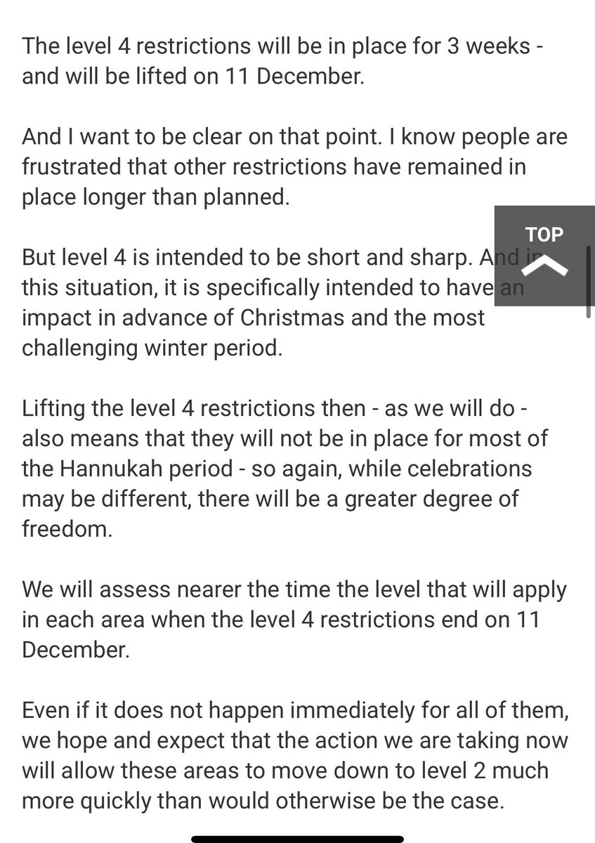 On the firm end date of 11 Dec for level 4 restrictions, here is what was said by @NicolaSturgeon on that point
