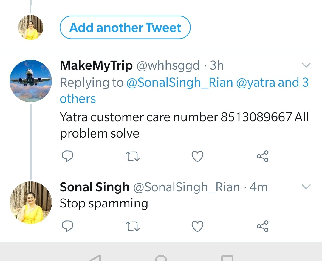 Drawing everyone's attn to this fake account. This is a money scam. Block whhsggd @makemytrip