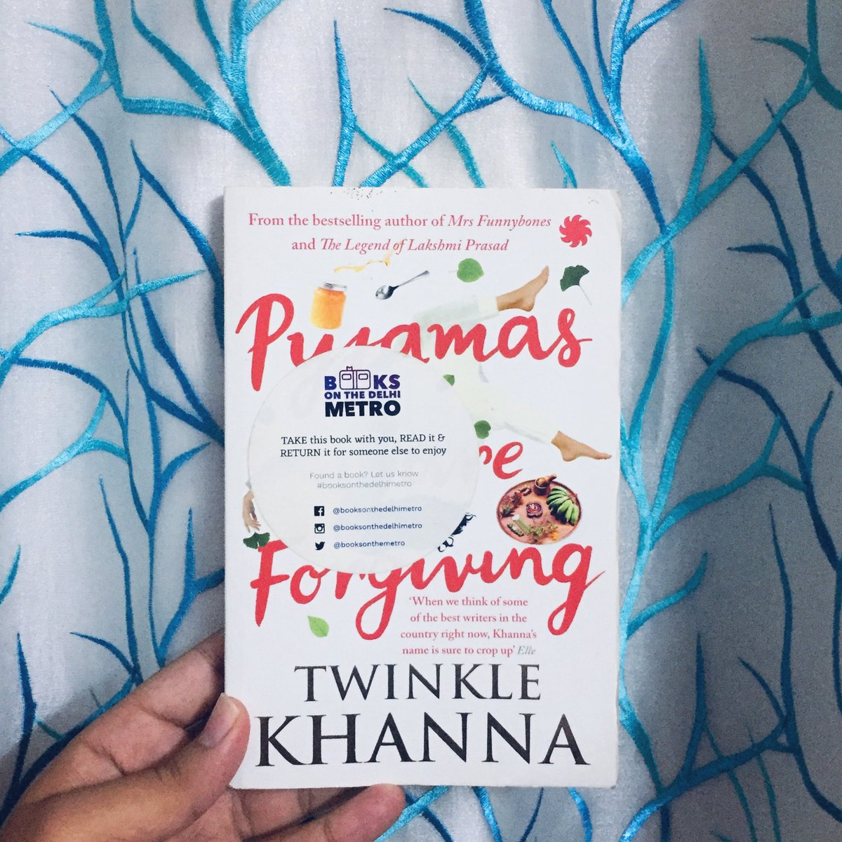 #readwithBODM An Indian fiction novel written by @mrsfunnybones , Pyjamas are Forgiving is a short and sweet read narrated by a woman named Anshu.