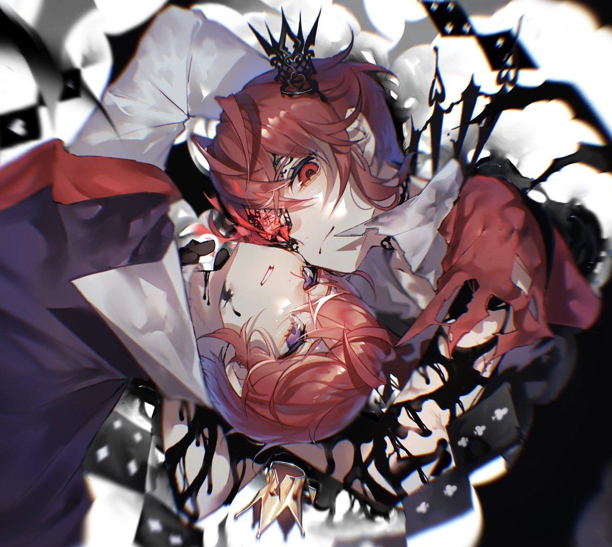 闇に堕する    #ツイステファンアート