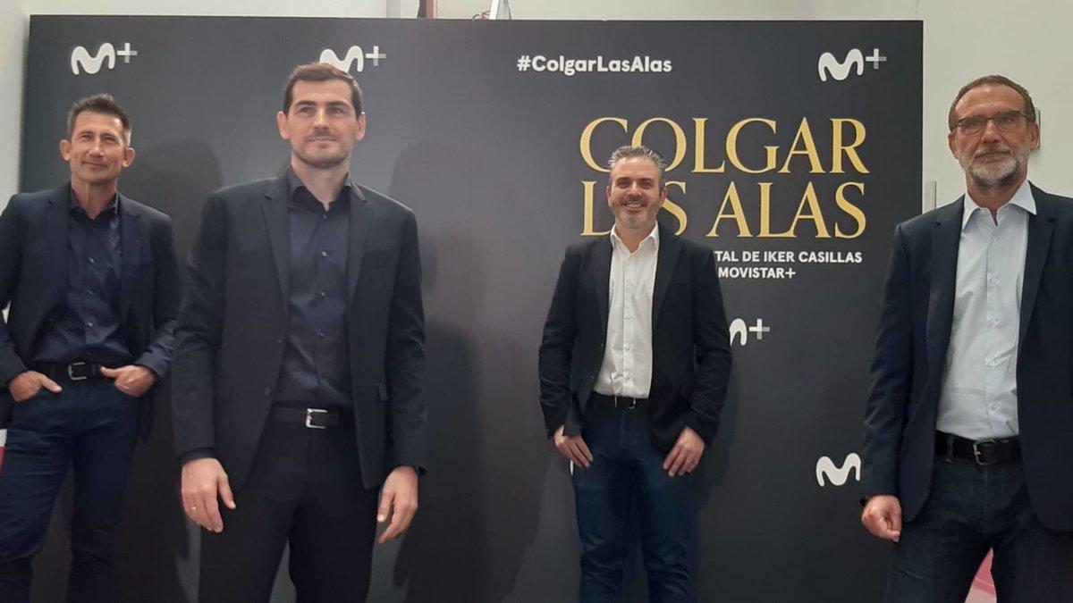 Hoy presentamos LA HISTORIA. #ColgarLasAlas con @ikerCasillas, el viernes 27 en Movistar+.