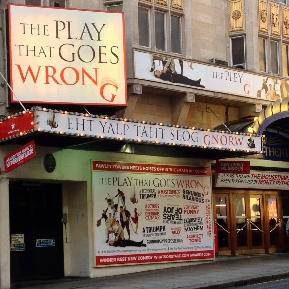 Happy #LoveTheatreDay to our friends across the industry - onstage and off, in the venues and in the audience 🎭  Thanks to everyone who makes theatre possible 💖 It really does take a lot of things going right, to make sure it all #GoesWrong on the night in our shows!