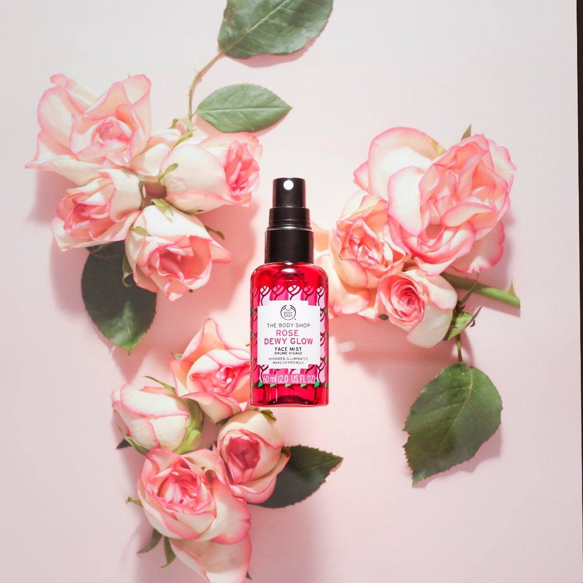 With raspberry essence, cherry water from France and Community Fair Trade British rose essence, the Rose Dewy Glow Face Mist leaves skin feeling hydrated and instantly refreshed after a spritz. Shop Online, In-store or via Home Delivery call +917042004412 #TBSInd #FaceMist