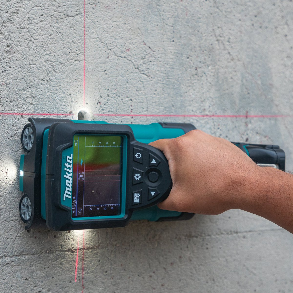 """The 18V LXT Cordless Multi-Surface Scanner (DWD181) quickly locates objects up to 7"""" deep in multiple types of base materials to allow for immediate cutting, drilling or coring.   #makitausa #makitatools #lxtadvantage"""