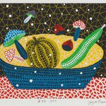 Image for the Tweet beginning: Yayoi Kusama, Fruits, 1997