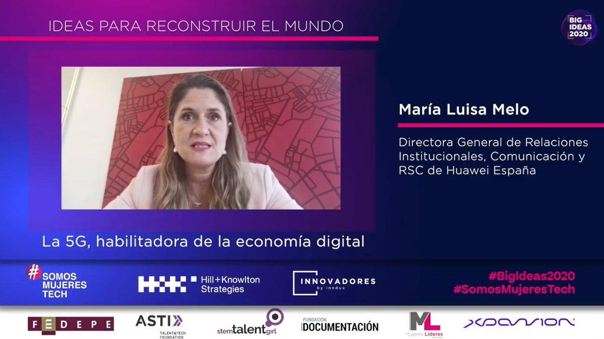 .@MLMelo, Dir.ª General de Relaciones Institucionales, Comunicación y RSC de @HuaweiSpain, nos habla sobre su idea relacionada con el 5G.  #BigIdeas2020 #SomosMujeresTech https://t.co/saGKmXxxFz