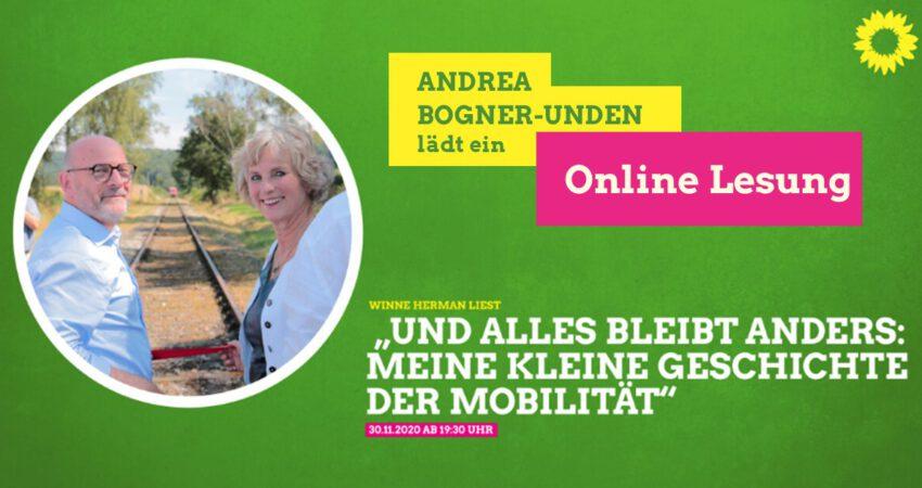 Einladung zu #Online-#Lesung und Austausch  am 30.11.2020 ab 19.30 Uhr  mit #Verkehrsminister Winfried #Hermann (#BadenWürttemberg)