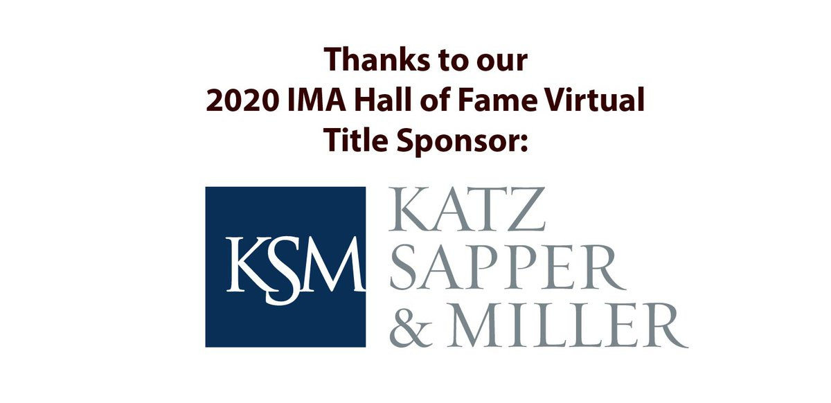 The 2020 IMA #Manufacturers Hall of Fame Virtual event will begin at 10 am. We'd like to thank our Title sponsor @ksmcpa for their collaboration on this important event for manufacturers throughout #Indiana. Stay tuned for the 2020 #InMfg20 survey results! https://t.co/xr2S2S9FdF