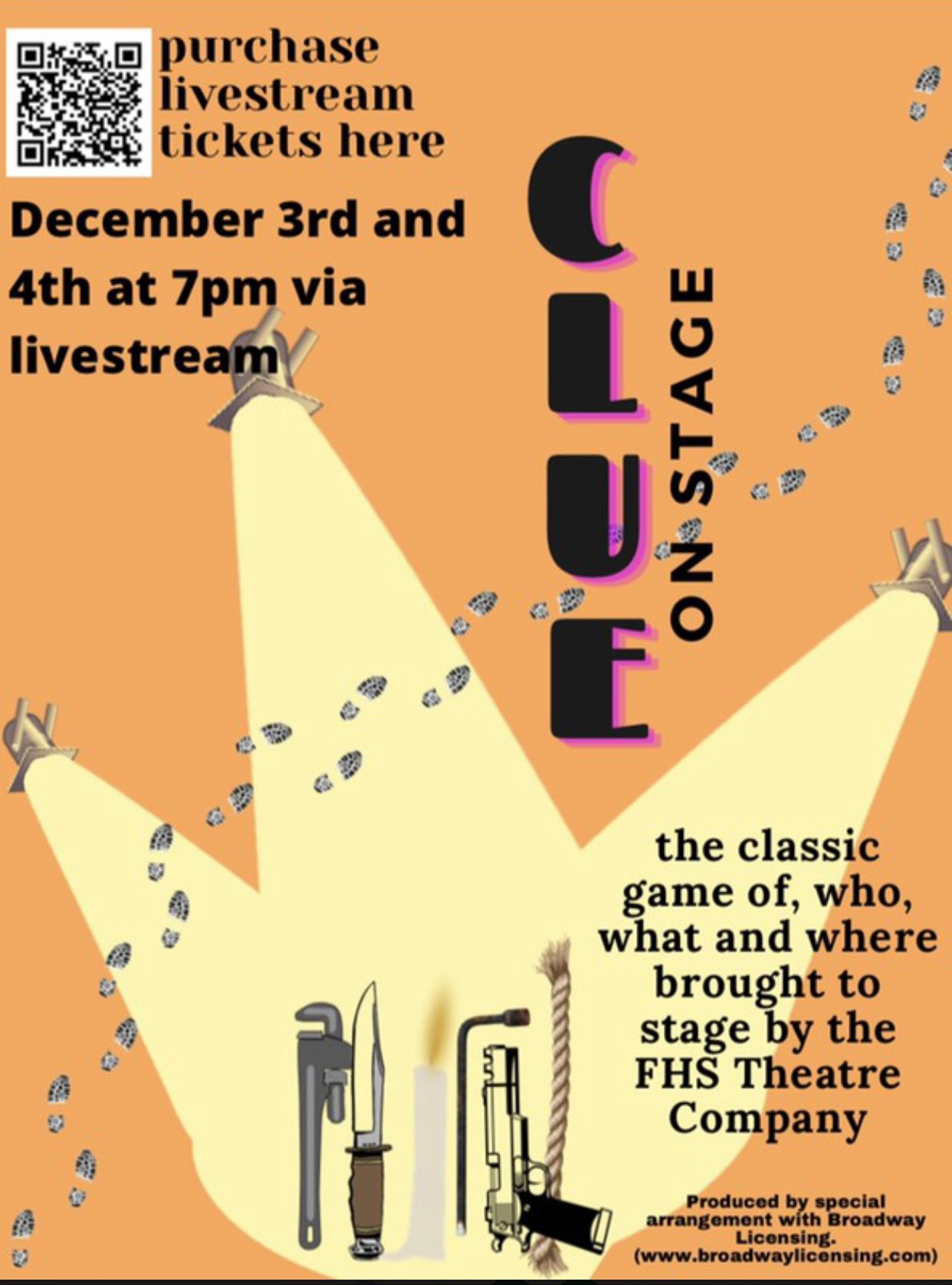 FHS Theatre Company: tickets on sale for CLUE - Dec 3 and Dec 4