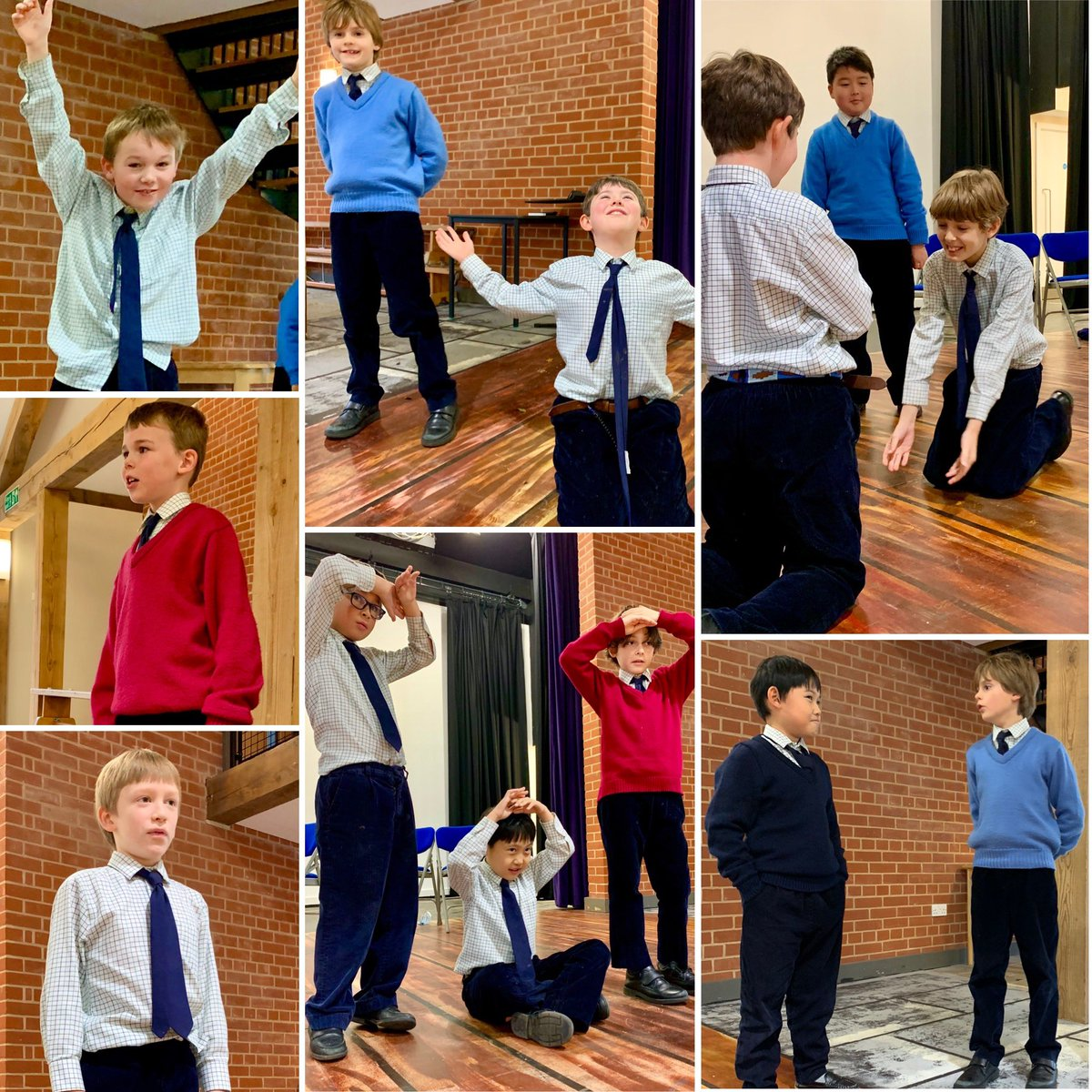 Rehearsals for the VI's Nativity are in full swing @_Ludgrove. Well done boys for learning your lines over the exeat weekend. There are certainly some enthusiastic performances even at this early stage! ⭐️ #nativity #schoolplay #rehearsals #performers #prepschool