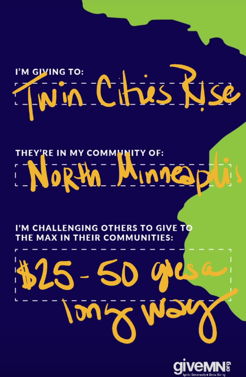 #GTMD20  November 19th  We invite you to play a huge role in transforming someone's life  by supporting Twin Cities R!SE   #TwinCitiesRise