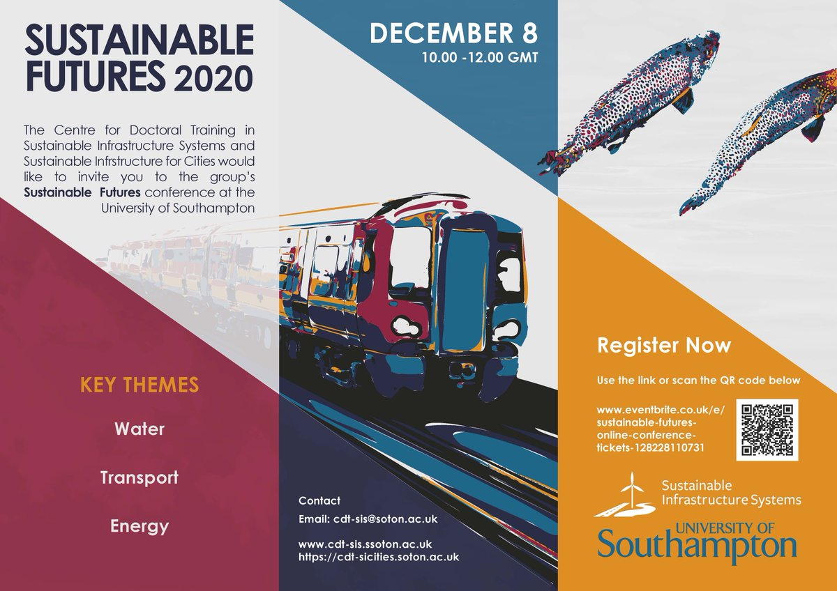 "test Twitter Media - CDT SIS are presenting their current projects at the online conference ""Sustainable Futures"" This will be held online through Microsoft TEAMS on 8.12.2020 from 10.00-12.00. An event schedule will be posted on – www.cdt-sis@soton.ac.uk https://t.co/d530NyiPPg https://t.co/n9q71f1IkD"
