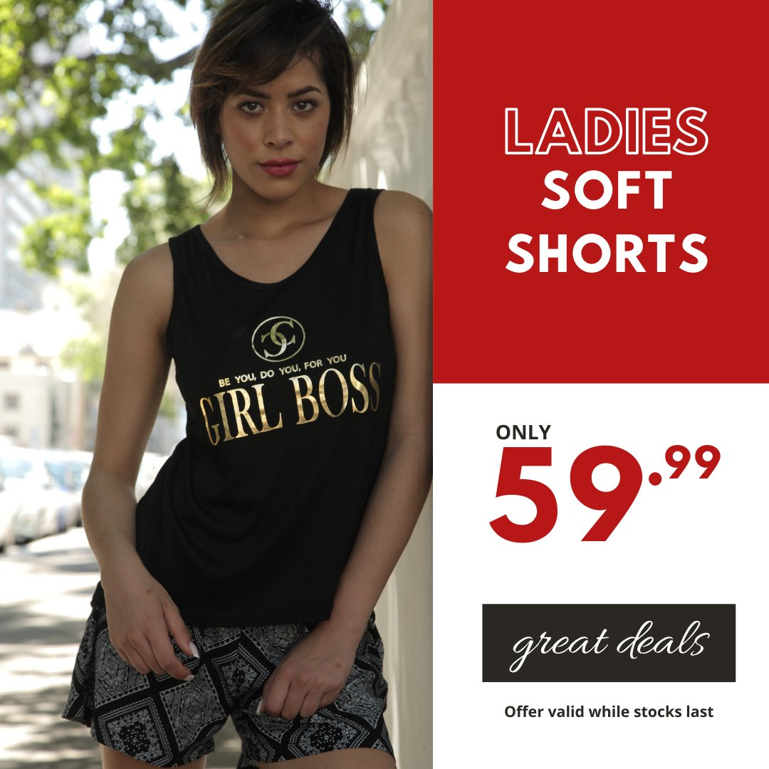 More great summer deals coming your way... Ladies Assorted Soft Shorts only 59.99 #choiceclothing #wearchoice #ladieswear #shorts #summer