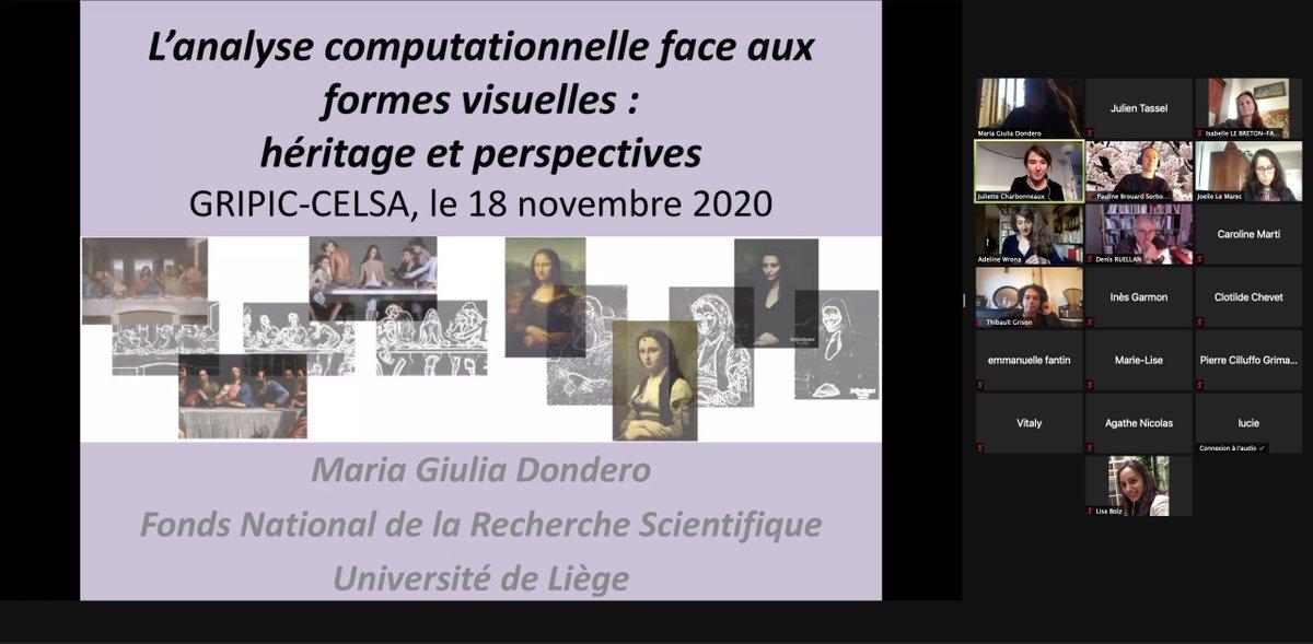 Très heureux d'écouter Maria Giulia Dondero @UniversiteLiege en conférence au GRIPIC ds le cadre d'une invitation @CELSA_Officiel