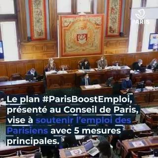 Image for the Tweet beginning: #ParisBoostEmploi | Face à la