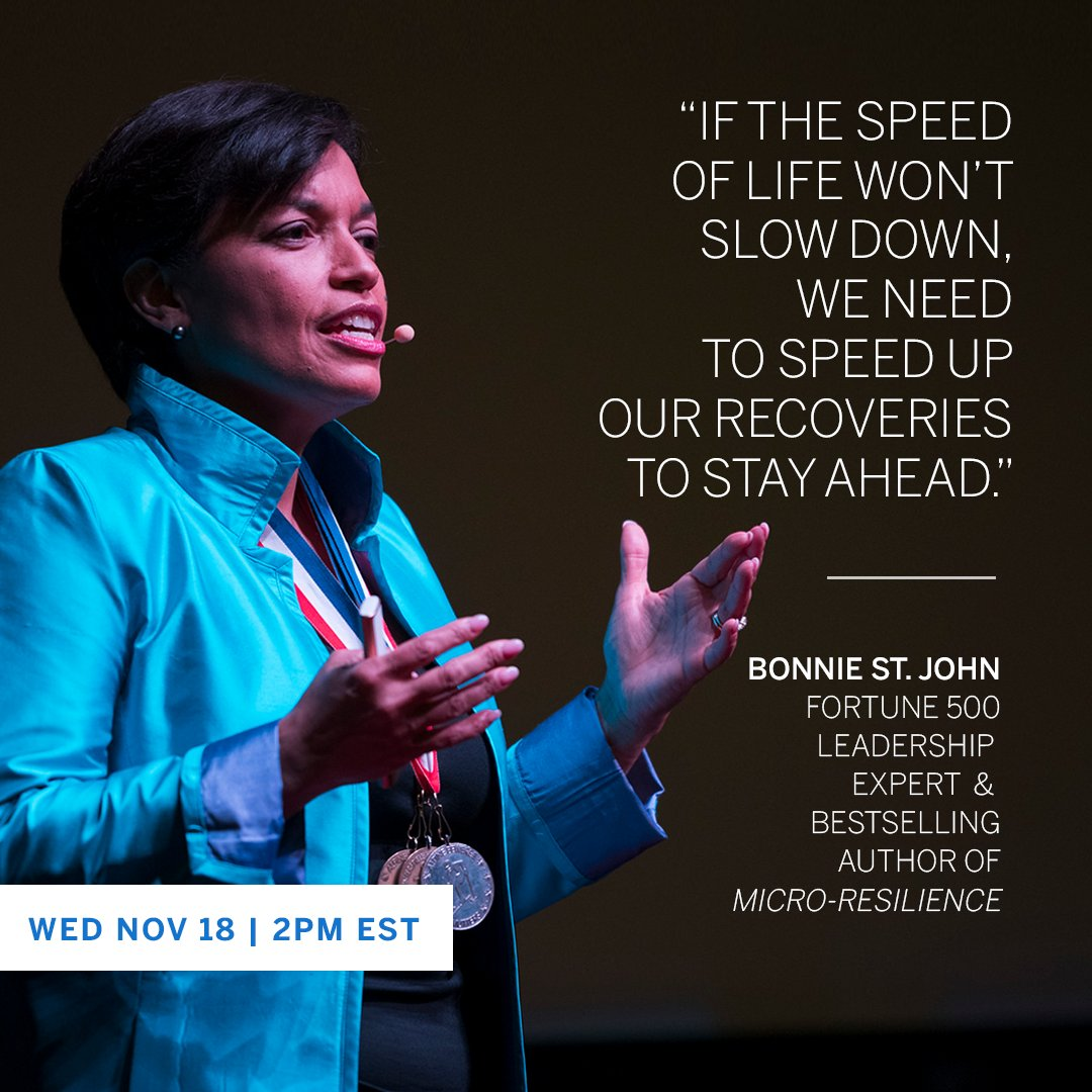 Leading on empty? Hear Fortune 500 Leadership Expert & Bestselling Author @BonnieStJohn discuss mental strength—and how to build it—today at 2pm EST, in a special #AmexBusiness Office Hours hosted by @jjramberg on LinkedIn: