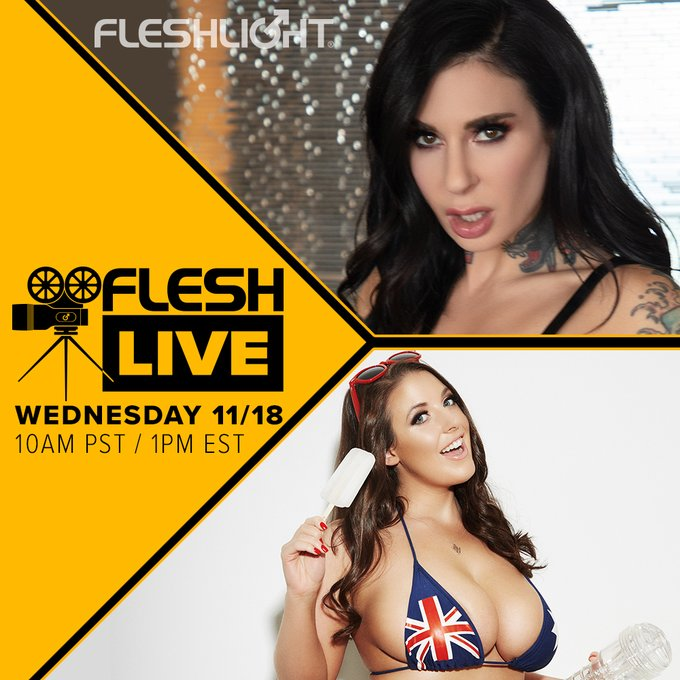 This week's FleshLive guest is insatiable Fleshlight Girl @ANGELAWHITE ! Join her and award winning host