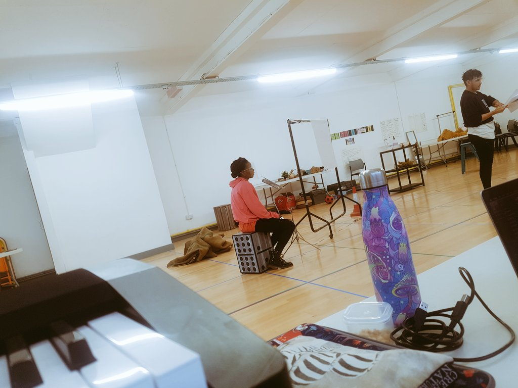 Prespective's of a composer in #Rehearsals for #Jackandthebeanstalk. Lovely rehearsal space @wearenonsuch  Incredible creative team @NottmPlayhouse  What else can I ask for?