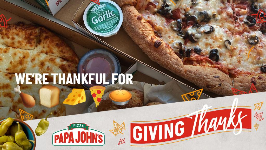 Using only emojis, what are you most grateful for this year? There's a free pizza in it for some of our favorite answers! https://t.co/CbPcNlVQwW