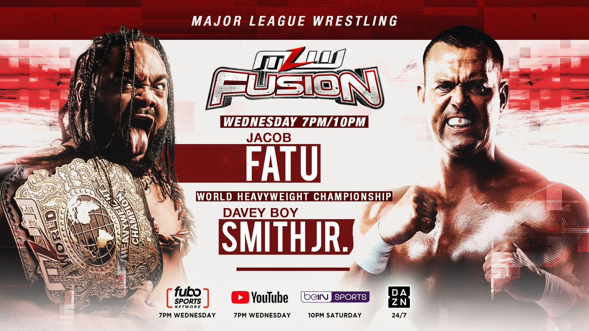 #TheRestart launches TONIGHT!  🔥@MLW Heavyweight Championship: @SAMOANWEREWOLF defends vs. @DBSmithjr  🔥#MLW Middlewight Championship: @TheBadReed defends vs. @FlyinBrianJr  🔥National Openweight Champion @alexhammerstone in action.  🔥And a ton more!  How to watch #MLWFusion👇
