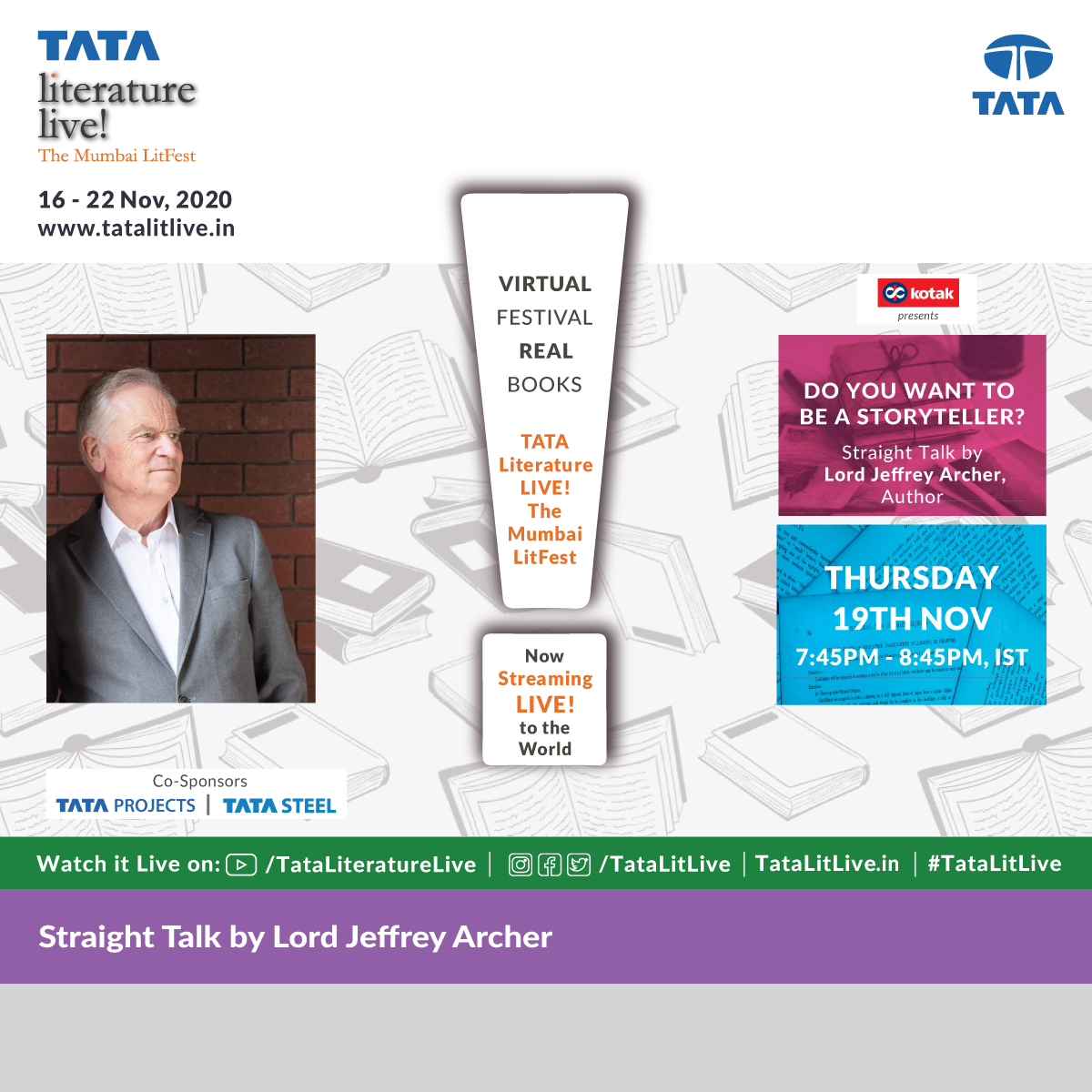 Looking forward to speaking at #TatalitLive2020 tomorrow, 2.30pm UK time, 7.45pm IST. tatalitlive.in