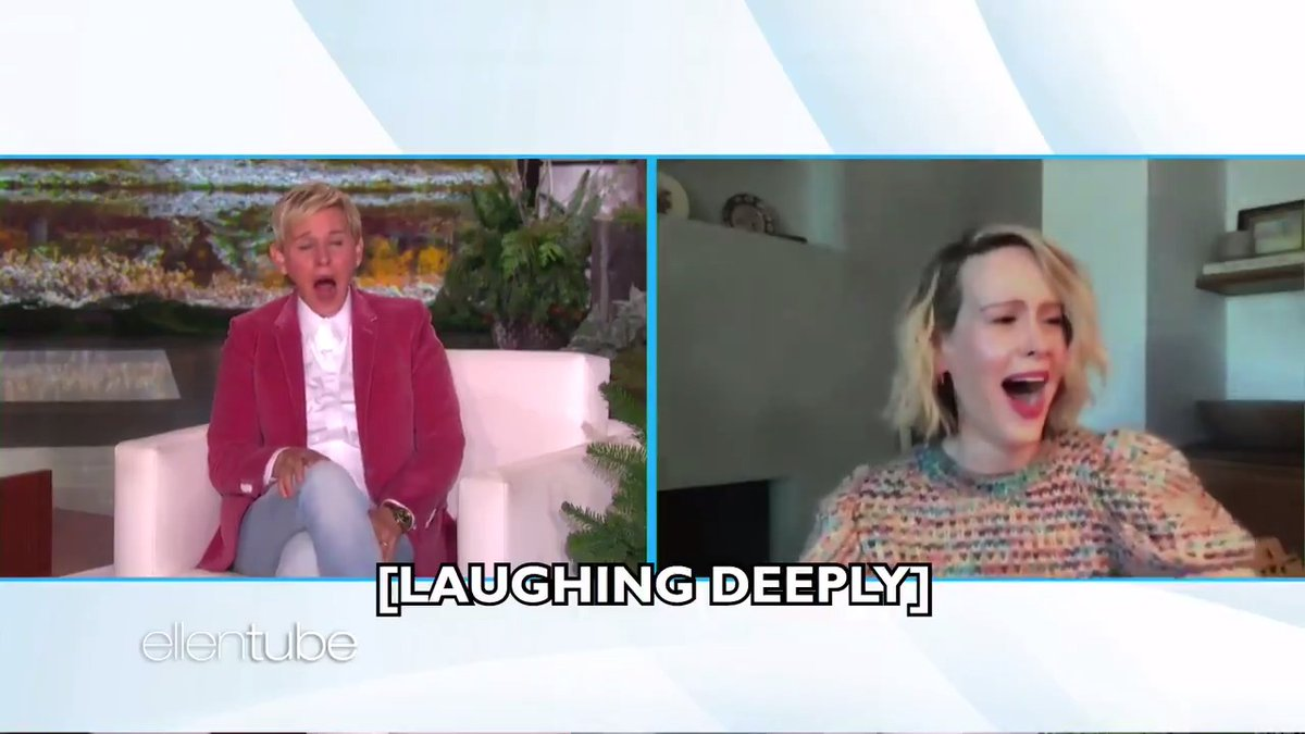 .@MsSarahPaulson's laugh though.