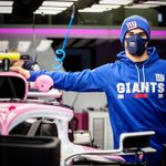 We know who @lance_stroll is rooting for on Sundays 🏈   Go Big Blue! #TogetherBlue @Giants @NFL