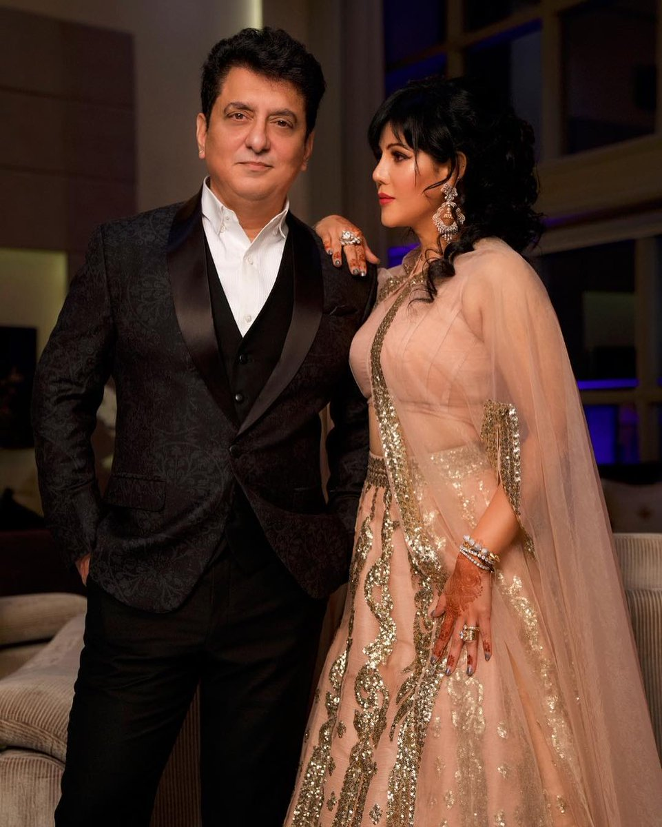 happy anniversary #sajidnadiadwala sir and sister @WardaNadiadwala lots of love both ❣️💕🎬🎥💗🎊🎉🎂